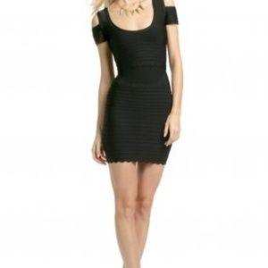 Dresses & Skirts - Black Herve Leger Cold Shoulder Bandage Dress Chea